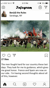 SAMPLE - Benedict Arnold Battle of Saratoga Post