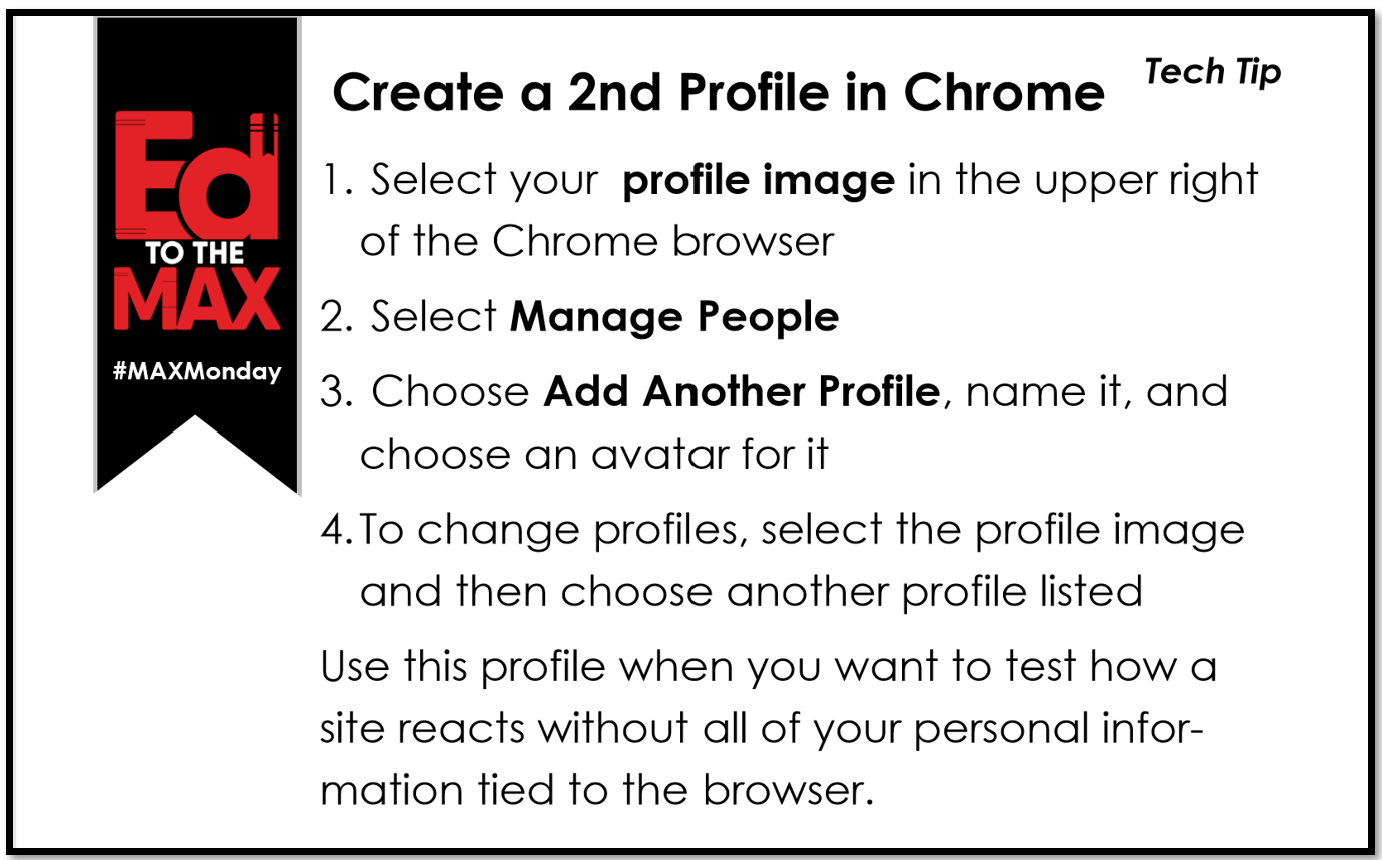 Creating a Second Chrome Profile