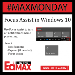 Focus Assist in Win 10 Image