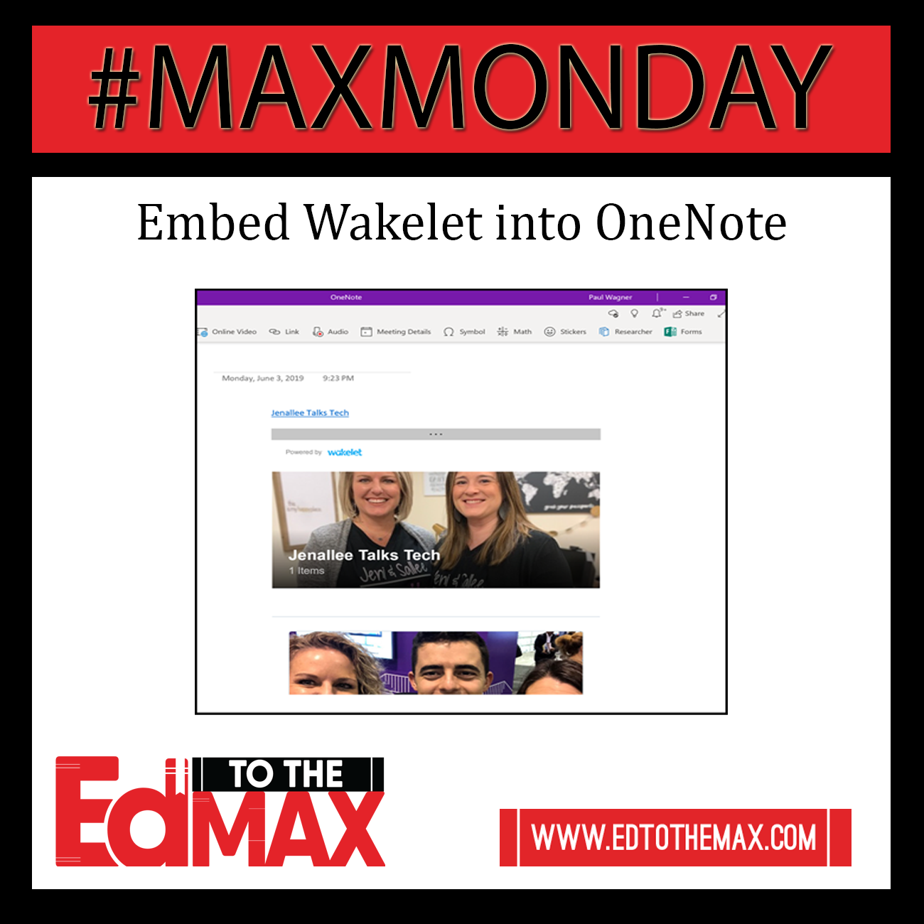 Embed Wakelet into OneNote