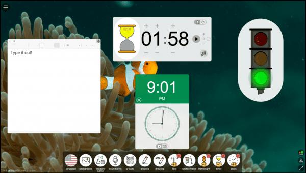 classroomscreen example