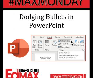 Dodging Bullet Points in PPT