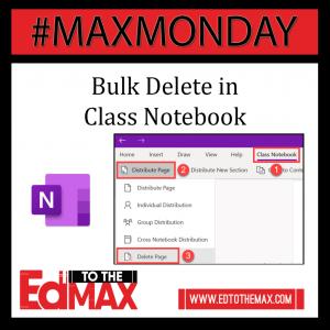 Bulk Delete Class Notebook