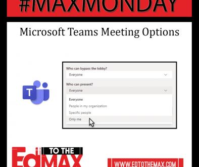 Microsoft Teams Meeting Optons