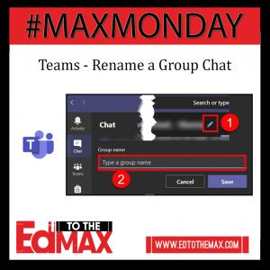 Teams Rename Group Chat