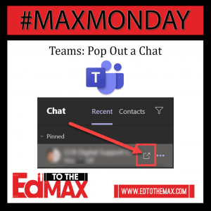 Insta- Teams - Pop Out a Chat