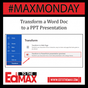 Insta Transform Word Doc to PPT